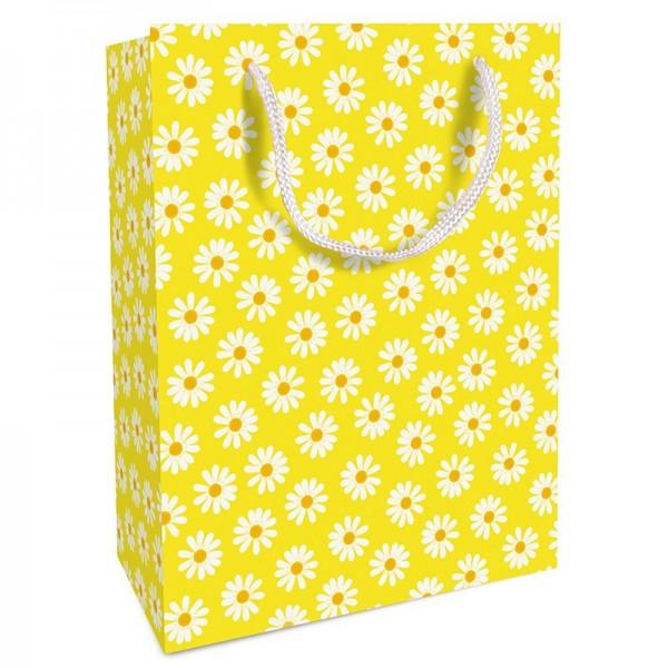 Geschenktaschen, 25 x 37 x 8 cm: DancingDaisies gelb