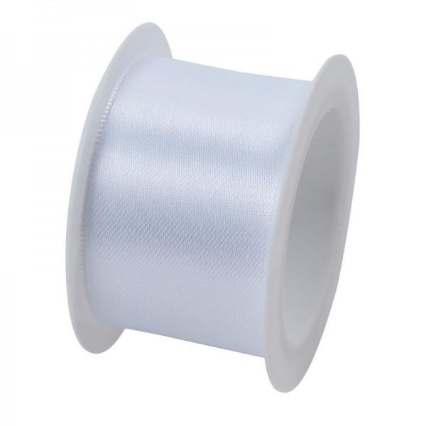 Satinband 40 mm: weiß